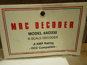 MRC Model AD330 N Scale Decoder - .8 AMP Rating DCC Compatible in Sealed Pack