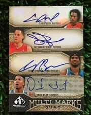 2009-10 SP Game Used Multi Marks Quad BOSH/PRINCE/BREWER/WEST /50 SP