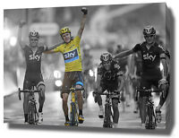 CHRIS FROOME CANVAS PRINT POSTER PHOTO 2015 WALL ART TOUR DE FRANCE CYCLING
