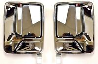 for Ford F Pickup Outside Outer Exterior Door Handle Front LH RH Pair Chrome ABS