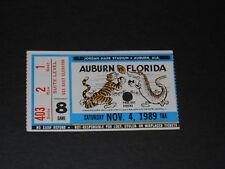 Vintage November 4, 1989 Auburn Tigers v. Florida football ticket - Phil Neel