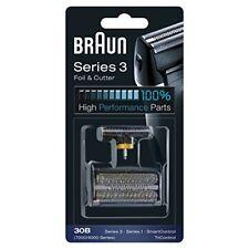 Braun 30B Testina di Ricambio, Compatibile con i Rasoi della Serie 3, Nero