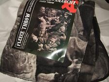 Nwt The Sons Of Anarchy Fight Brawl Biker Gang Club Plush Fleece Throw Blanket
