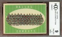 1961 topps #28 DALLAS COWBOYS team card BGS BCCG 9