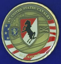 US Army 6th Cavalry Black Horse CSM Challenge Coin ^
