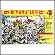 "Fridge Fun Refrigerator Magnet ""ROMAN SOLDIERS"" RETRO COMIC BOOK AD"
