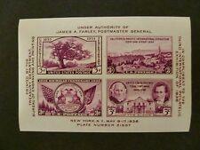 USA 1936 #778 Third International Philatelic Exhibit Souvenir Block of Four MNH
