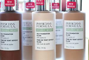 Physicians Formula Organic Wear Silk Foundation Elixir w/Jojoba Oil ~ 7 Shades