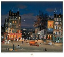 Michel Delacroix - Café Tabac au Panorama, signed serigraph on paper