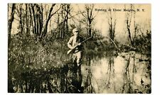 Ulster Heights NY - BIRD HUNTING IN STREAM - Postcard