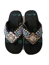 Montana West Handbeaded Aztec Sandals 5 7 8 9 10 11