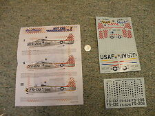 AeroMaster decals 1/72 72-196 F-84 Thunderjets 86th FBG Part II  L115