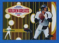 2005 Topps Chrome Golden Greats #GA5 John Elway Denver Broncos HOF MINT