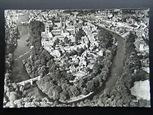 Durham Aerial View RIVER & CATHEDRAL c1950 RP Postcard by Aerofilms