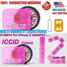 10 PKS RSIM 12 New 2018 R-SIM Nano Unlock Card For iPhone X/8/7/6/5S 4G iOS 12
