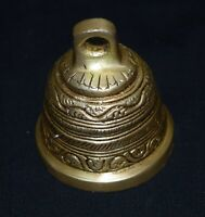 Golden Bell Brass Vintage Pattern Decorative Wall Hanging Bells Spiritual Bells