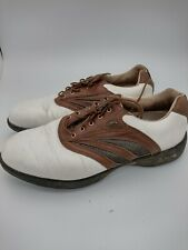 New listing Etonic, Air conditioning Technology, Golf Shoes uk9 Brown and white, GA1126, #HS