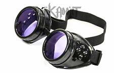 Purple Steampunk Crazy goggles Burning man festival costume Scientist Halloween