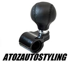 Steering Wheel Aid LEATHER Knob *Universal Fit* Knob Spinner Car Van Truck HGV