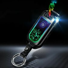 USB Fingerprint Lighter Cigarette Plasma Double Arc Pulse Windproof Gadgets