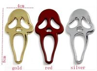 Chrome red/Gold/Silver 3D Skull Bones Metal Cars Emblem Badge Decal Sticker