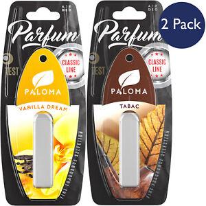 Paloma Vanilla Car Air Freshener Tobacco Rich Intoxicating Scents Sweet 2 Pack