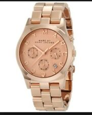 MARC JACOBS Rose Gold Henry Chronograph Watch In Box $275