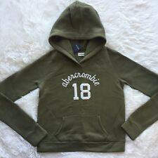NEW ABERCROMBIE & FITCH GIRLS PULLOVER HOODIE SIZE XL OLIVE GREEN