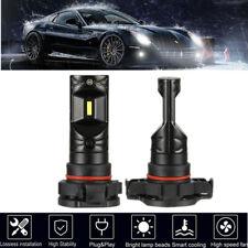 2Pcs 80W 2504/H16/5202 LED Headlight Kit Fog Light Bulbs 6500K CSP Pure Whiter