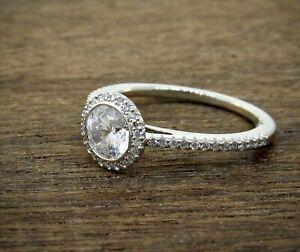 RITANI Platinum Halo Diamond Engagement Ring Setting