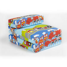 Children's Z Bed Fold Out Chair Transport Emergency Vehicles Boys Mattress Futon