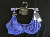 Apt 9 unlined bra Size 36C blue NEW NWT lace