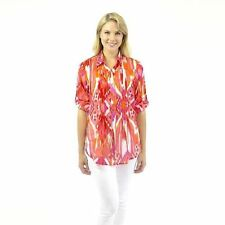 Polyester Button Down Shirt Hand-wash Only Casual Tops & Blouses for Women