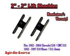 """1982 -05 Chevrolet S-10 S10 / GMC S-15 Sonoma Blazer Jimmy 2"""" - 3"""" Lift Shackles"""