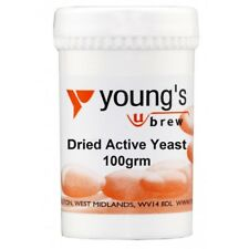 Youngs Dried Active Yeast - 100g - home brew - beer and wine making - FREE deliv