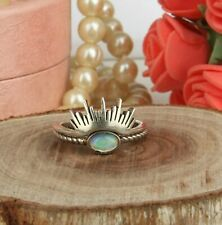 Rising Sun Designer 925 Silver Oxidized Adjustable Ethiopian Opal Rings