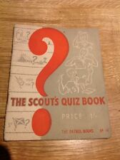 The Scout's Quiz Book The Patrol Books No 14 1951 Vintage Scout Booklet
