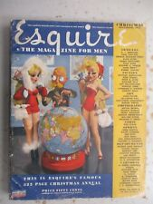 Esquire Magazine - Christmas December 1942 Issue WWII, Varga, More!