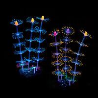 Danmu 1pc Plastic Vivid Artificial Coral Plant Ornament for Fish Tank Aquarium Decoration Blue
