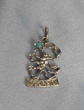 Zodiac Charm pendant bracelet Vintage Sterling Silver Scorpio