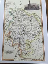 20x16ins repro map of Thomas Kitchin 50x41cm Huntingdonshire 1786
