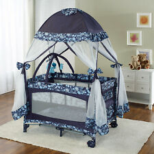 Playard with Moquito Net Navy Blue
