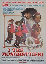 """""""LES TROIS MOUSQUETAIRES (THREE MUSKETEERS)"""" Affiche italienne origin. entoilée"""