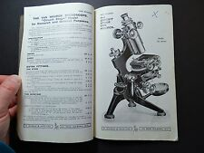 RARE - Advertising Trade Catalog - Watson Emergency Microscopes 1918 - Optical
