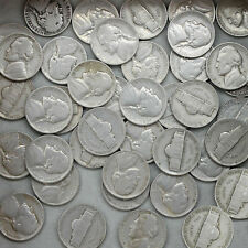 1938 Jefferson Nickel Roll 40 Circulated Us Coins