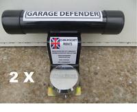 2 X Door Defender Up & Over Garage Doors With Padlock&Fixings security