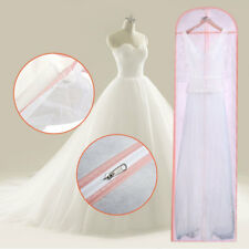 Long Bridal Wedding Dress Dust Cover Garment Gown Maxiskit Cover Storage Zip Bag