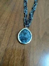 & Sterling Silver Necklace with Pendant Silpada N1895 Black Silk, Seed Bead,