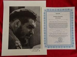 Alberto Korda  Che Guevara hand signed   + COA