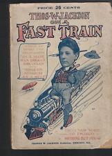 Thomas W Jackson on a Fast Train (From NY to Frisco) 1905